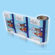 Film en plastique d'emballage alimentaire, emballage de film en plastique de biscuits