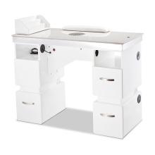 Mesa de uñas para salón de belleza con colector de polvo