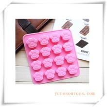 Molde de silicón ovalado de 16 cavidades para jabón, pastel, magdalenas, brownie y más (HA36012)