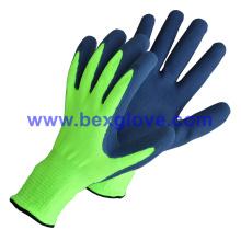 13 Gauge Nylon Liner, Latex Double Coating, Sandy Finish Glove
