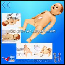 Modelos avançados de enfermagem de bebê de alta qualidade, bonecos de ciência médica, manequins de enfermagem para bebés