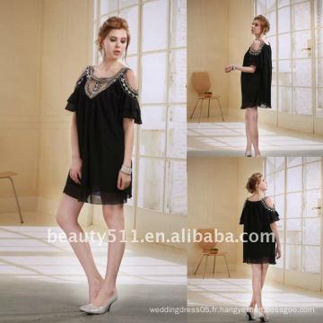 Astergarden New Design Emma Roberts Style perlé en mousseline de soie en mousseline de soie AS032-6