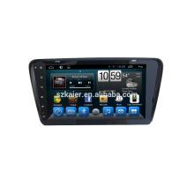 ¡reproductor de DVD del coche, fábrica directamente! Android de cuatro núcleos para coche, GPS / GLONASS, OBD, SWC, wifi / 3g / 4g, BT, enlace espejo paraVW Skoda Octavia