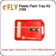 kit de bandeja de pintura de plástico cepillo de rodillo de pintura
