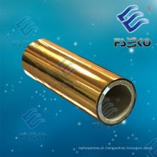 Película de estratificação térmica protetora metálica dourada para a caixa de estratificação, publicações