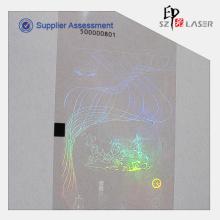 Transferência de calor de PET fita holográfica com Roll embalagens