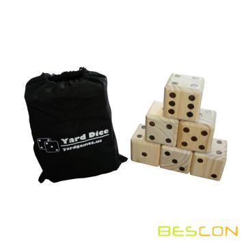 Giant Wooden Dice Set