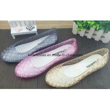 Sandálias de geléia de cristal de última qualidade senhora verão (ff614-3)