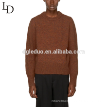 Latest design adults computer knitted men 100% cotton pullover sweater