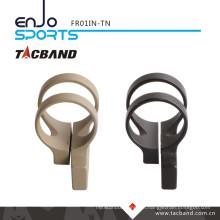 Tacband Offset Tactical Flashlight Mount LED Flashlight for Keymod 1 Inch Ring Tan