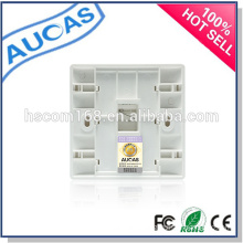 wall mounted rj45 fiber optical face plate/SC / LC / ST fiber optic face plate/FTTH single port indoor wall plate /
