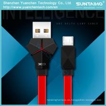 LED luz de carga rápida Micro Data Sync Cables USB para iPhone Android