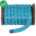 Corde de coton torsadée 3 brins pour la vente en gros de textile de maison