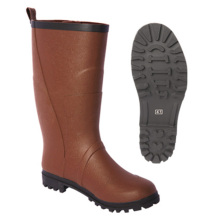 Men Rubber Boots in Brown Color with Logo