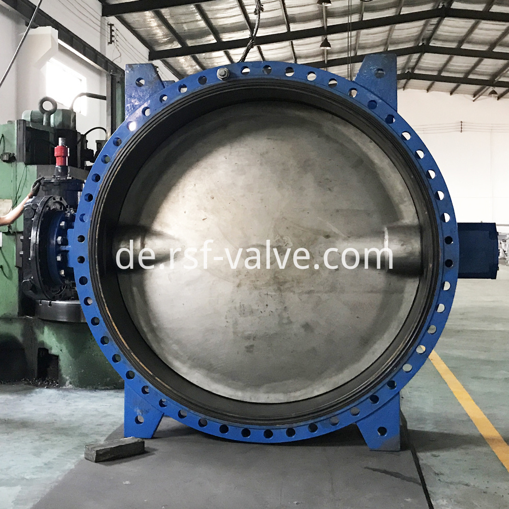 Concentric Flange Rubber Lining Butterfly Valve 4