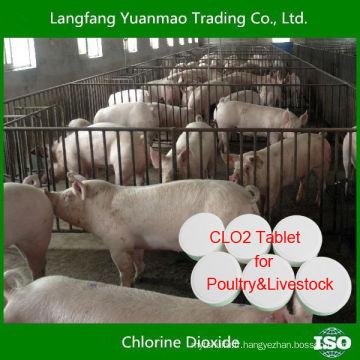 Meilleur comprimé de dioxyde de chlore désinfectant et efficace pour la volaille et l'élevage