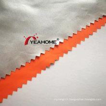 Tissu de pongé de polyester de revêtement d'argent pour les couvertures de voiture