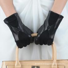 Grossiste prix bon marché gants femme en cuir