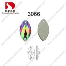 Pujiang Machine Cut Coudre sur Crystal Ab Stone Accessoires pour ornement