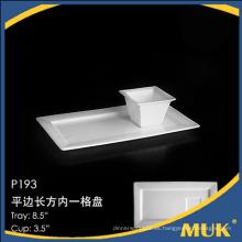 Nuevo diseño procelain placa de la cena de la porcelana de la acción al por mayor fijada