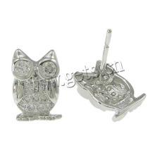 Gets.com Cubic Zirconia Micro Pave Brass Earring, серьга для микро-проводов формы совы