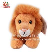 Brinquedos feitos sob encomenda enchidos personalizados do leão do luxuoso de 30cm com seu próprio projeto