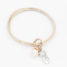 Nuevo diseño de moda apilamiento joyería con perlas y encantos infinitos