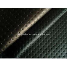Holes Design Furniture Semi-PU Leather (QDL-FS015)