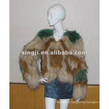vrai manteau de fourrure de chien raton laveur