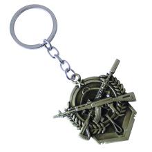 Einfach Stil personalisierte Design Mode Metall Schlüsselanhänger
