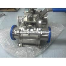 Válvula de esfera tri-clamp de aço inoxidável de grau alimentício