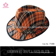 Chapeau bon marché à l'orange fabriqué en polyester