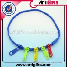Plastic zipper necklace fancy necklace sets