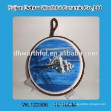 Mesa de cerâmica pote mat com design oceano