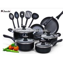 15 pcs aluminum Non stick cookware set