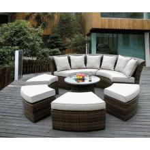 Rattan Furniture Set jardin Patio en osier Daybed