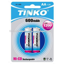 ni-cd battery size AA 600mah good quality with CE IN CARDS