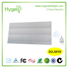 PS prism cover 600*1200mm 54w high power led flat grille panel light ,led grid flat panel light with CE,ROHS