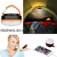 Mini rechargeable LED camping et lanterne d'urgence USB Outlet 180lm