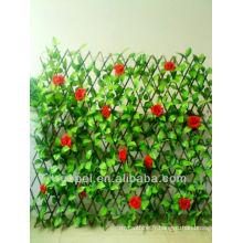 décoration de jardin haie artificielle verte