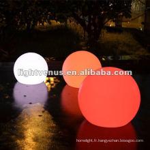 40cm IP68 imperméabilisent la couleur changeant la décoration de LED boules en plein air lueur de jardin balle de lumière