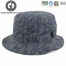 Cool Fashion Fisherman Cap Bamboo Printing Cotton Bucket Hat