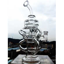 2016 latest Three Recyclers Showerhead Glass Pipe