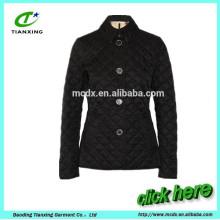 short style slim cutting cotton-padded jacket