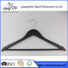 Rubber wooden coat hanger