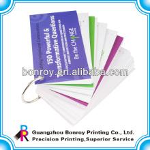 anillo de unión Flip libro de tarjetas de impresión