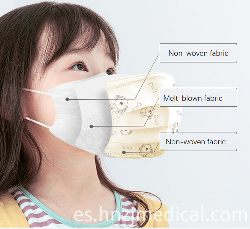 3 ply disposable children's surgical mask