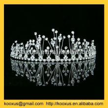 Alta qualidade noiva tiara fabricados na China