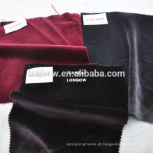 Cor vermelha 100% de alta qualidade tecido de veludo de algodão por atacado