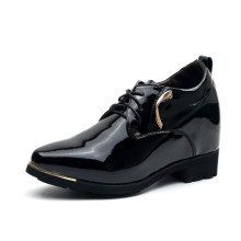 Black Patent Color Men Leather Shoes with Lace up (NX 444)